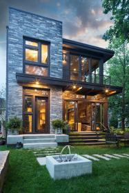 minneapolis glass house plans with contemporary garden