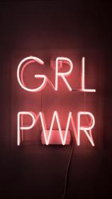 GIRL POWER Pastel rose neon lights Neon light