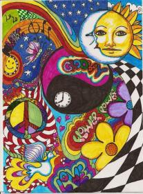 hippie psychedelic deviantart jerzee trippy drawings drawing painting pencil drug inspiration traditional sketched boho peace psychadelic 2008 indie turned copy