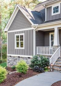 exterior paint gray colors cottage houses painting modern siding grey hunker help farmhouse craftsman decide considering schemes vertical exteriors lake