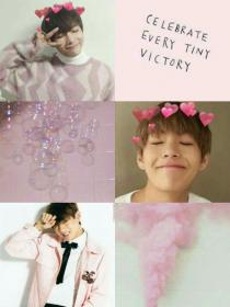 aesthetic bts pink taehyung pastel aesthetics kpop collage wallpapers boy kim namjoon members korea backgrounds collages cute anime discover drawings