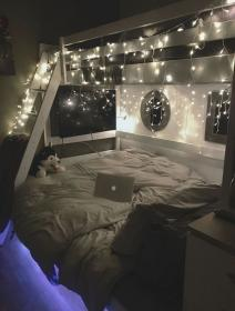 led lights teenage rooms bedrooms dream cozy teenagers spaces bed tapestrygirls trendy colors desefay cleaning