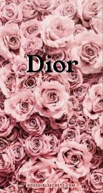Dior wallpaper for your phone Wallpaper with roses and