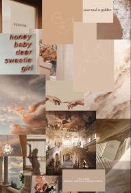 aesthetic brown cream collage neutral soft warm tones colors perfect wallpapers backgrounds serenity