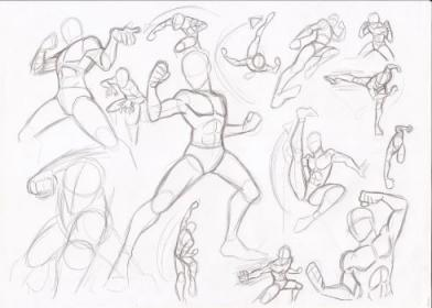 poses fighting reference drawing male pose guy drawings manga action deviantart sketches