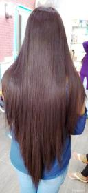 Cabello largo en v Long hair styles, Long dark hair