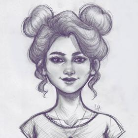 buns space pencil drawings draw sketch drawing sketches easy hair instagram put much cool actually never