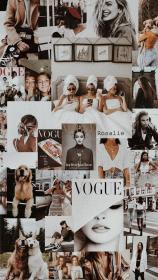 vogue shared aesthetic collage maca background wallpapers backgrounds heart wall cool discover trendy