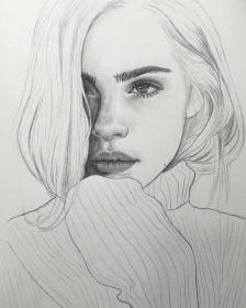 pencil drawing drawings instagram sketch face realistic sketches easy portraits expression