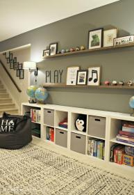 storage toy basement living ikea toys empty game amazing playroom huge transformed into pretty board ledges space thriftydecorchick site blank