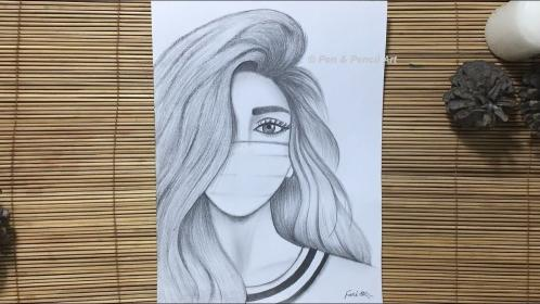 mask wearing draw drawing pencil sketch sketches handmade