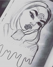 drawings drawing easy lorre christina sketches draw cartoon sketch instagram rawsueshii zeichnungen every pencil should illustration appreciated whether loved anime