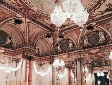desktop aesthetic rose pink marble castle wallpapers theme heart brown soft aesthetics backgrounds asthetic architecture cathedral ball places princess pretty