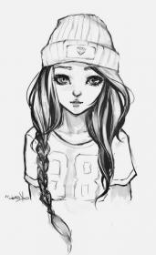 draw drawing hair easy drawings sketch hipster face head 1001 cool sketches tutorials archzine anime step braid without really manga