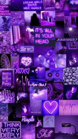purple app iphone heart aesthetic collage vsco background neon pastel kati uploaded weheartit colorful
