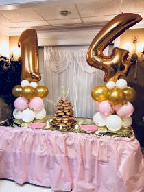 birthday 14th party teenage decorations theme golden teenager parties combined