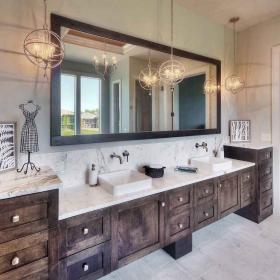 bathroom rustic farmhouse remodel bathrooms chic makeover cabinets decorating spaciroom makeovers remodeling weheartit anjawatinews usdecorating