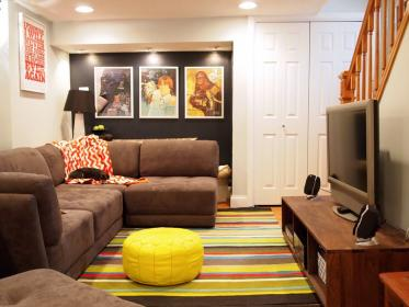 basement designs finished layout space living playroom remodeling bedroom amazing rooms basements inspiring decor couch sofa interior apartments thewowdecor midcentury