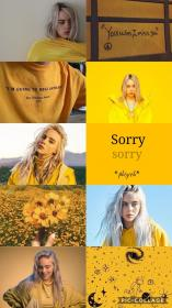 billie eilish aesthetic wallpapers quotes iphone phone fondos backgrounds pantalla ariana yellow icons grande collage fondo para cartoon background screen