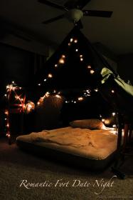romantic night dates fort friday date months bedroom january easy idea anniversary creative fridaywereinlove dinner bed forts him candles outside