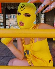 aesthetic bad ski mask gangsta yellow instagram badass gangster gang fille gives thug outfits female boujee pastel friends drawing site