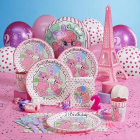 birthday party 2nd theme parties themes themed paris baby ava toddler decorations pink celebration 1st daughter second pack decoration supplies
