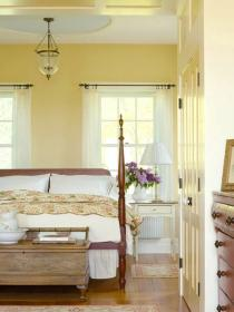 Decorating Ideas for Yellow Bedrooms Farmhouse style