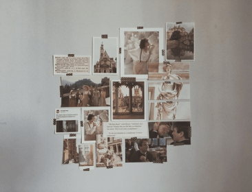 dark academia aesthetic bedroom aesthetics collage walls brown washes dust everyday soul away different georgia vibes rooms moodboard dorian ezra