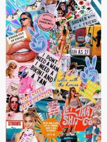 collage retro poster aesthetic redbubble vsco posters iphone computer wallpapers backgrounds pastel crazy pad