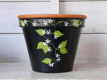 pot painting flower easy clay diy pots paint designs simple painted plant idea creative craft decorelated terracotta cotta terra club