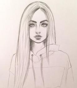 drawing drawings pencil draw sketches realistic sketch improve pretty archzine hoodie wearing straight concentration 1001 portrait doodling anime practice pencils