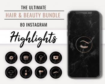 story highlights icon highlight hair beauty covers artist stylist nail icons