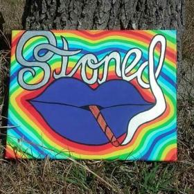 hippie drawings drawing trippy easy paintings painting canvas paint stoner acrylic psychedelic vibes pintura stoned boho arte dessin painted peinture