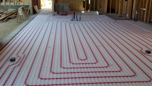 radiant heating floor heat hydronic heated installation water systems pex floors tubing system modern flooring boilers install concrete hydronics boiler
