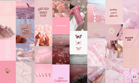 aesthetic laptop desktop collage macbook wallpapers backgrounds collages layout