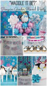 reveal gender baby party penguin shower winter waddle decorations idea parties showers games theme themes themed neutral catchmyparty disney cute