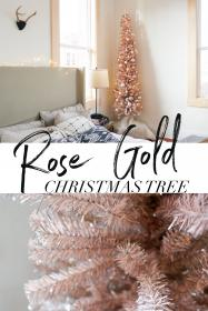 rose gold christmas tree decor decorations ornaments turned tinsel go decided ll think amazing samantha holiday pencil