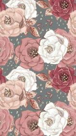 rose gold pink pattern floral flower wallpapers backgrounds cool phone screen phones
