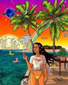 stoner aesthetic trippy bad wallpapers weird nature magical dope adventure stoned feeling