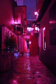 aesthetic neon purple pink dark lonely street grunge lilac quotes violet visit