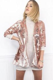 jacket sequin gold rose coat unique dress sequined sequins outfits fabric sparkly etsy wear rose please casual