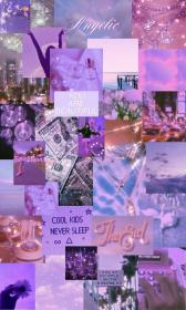 aesthetic purple bling baddie iphone collage ios sparkle wallpapers pretty