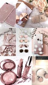aesthetic rose wallpapers iphone glitter makeup rosegold parede papel collage lockscreens backgrounds fondos pls reblog ouro shelby gordon adorable girly