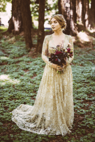 weddings forest marthastewartweddings colorful lace beige moody glam gown featured bride types