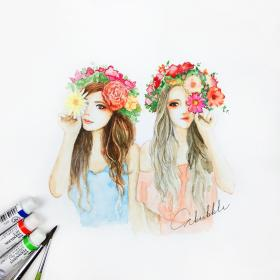 drawings friends friend flowers bff sketches drawing easy forever sketch cute friendship draw girly crystal ske paintings discover