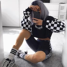 outfits grunge ropa edgy hipster baddie aesthetic outfit emo teen clothes wattpad rock da korean abbigliamento discover chicas club checkered