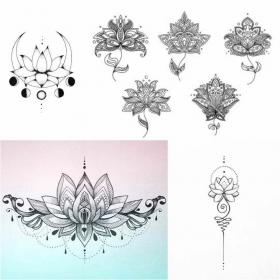 lotus tattoo flower tattoos mandala designs meaning sketches meanings positivefox flowers female