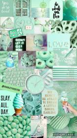 aesthetic mint collage wallpapers iphone pastel parede retro follow colagem purple falta cual pausada todos cap galaxy mood patterns quotes
