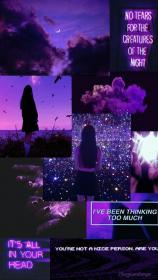 aesthetic purple virgo dark female witches night iphone wallpapers mood books backgrounds