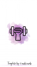 instagram fitness highlight icons icon story highlights cute purple feed insta gumroad para